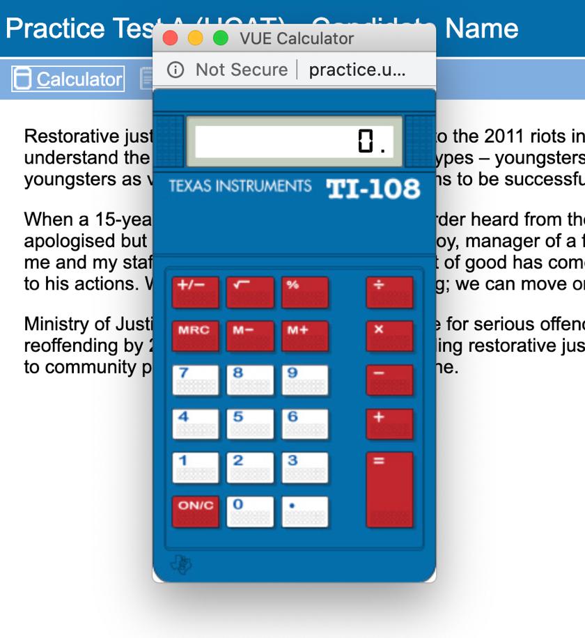 UCAT Official Practice Calculator